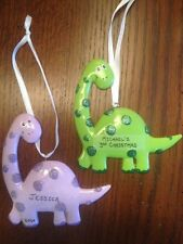 Personalized Dinosaur Boy / Girl Christmas Ornament