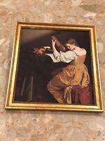"Orazio Gentileschi THE LUTE PLAYER Print Mounted Wood 9""x10"" Nat. Gallery Of Art"