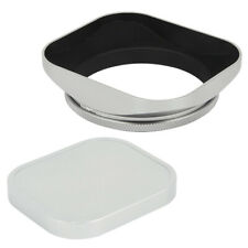58mm Standard Square Screw in Metal Lens Hood for Canon Nikon Sony Zeiss Silver