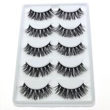 LASGOOS Real Mink 3D False Eyelashes 5Pairs/lot 13mm Long Wispy Fake Eyelash K01