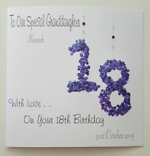 Personalised 18th Birthday Card Granddaughter Daughter 11th 12th 13th 14th 15th