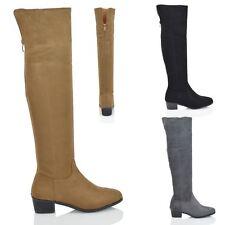 Women's Knee High Block Formal Boots