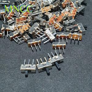 1p~5pc Mini DC Vertical Slide Switch On/Off SPDT 3Pin 2.54 3 Knob Length 3,4,5mm