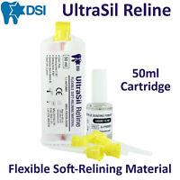 DSI UltraSil Dental Flexible Soft Reline Relining Material Denture Cartridge