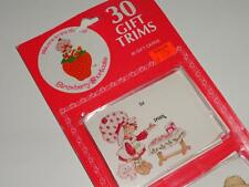 VTG Strawberry Shortcake Christmas Gift Tags Trims 30pcs NEW OLD STOCK Rare WOW