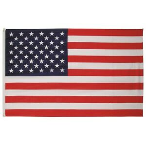 USA National Flag - 90x150cm w/ Reinforcement Band and Metal Hooks