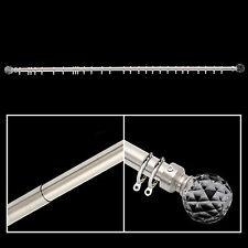 Extensible 120-210cm Douche tringle à rideau /Polonais /piste Crystal Ball 50MM