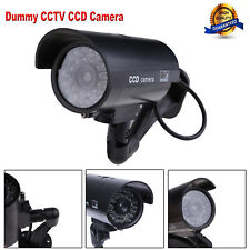 Outdoor Indoor Fake Surveillance Security Dummy Camera Night CAM with LED Light