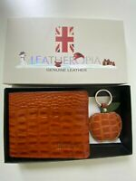 Gift Box For Men Crocodile Pattern Leather Wallet And Key Ring