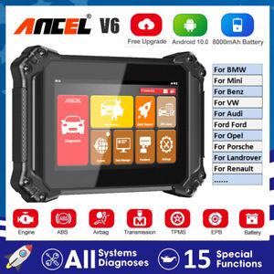 ANCEL V6 OBDII All System Scanner Diagnostic Tool EPB DPF Battery Oil SAS Reset