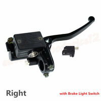 Motorcycle Right Hydraulic Brake Master Cylinder w/ Brake Light Switch 50-250cc