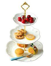 3-tier Porcelain Cake Stand- Dessert Stand-tea Party Serving Platter