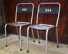 Vintage Bistro Chair Dining Kitchen Industrial mid century stripped metal School