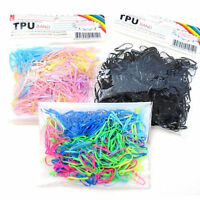 300pcs Fashion Rubber Rope Ponytail Holder Elastic Hair Band Ties Braids Plaits