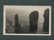 Stack Rocks, Real Photo postcard 1964 Squibb's of Tenby  st 37