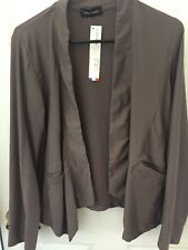 Eva Tralala Open Front  Brown Jacket Cardigan NWT