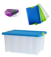 XL Stapelbox Lagerbox Regalbox Kunststoffbox Kiste Aufbewahrungsbox Deckel 22l