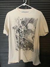 RARE Original Radiohead T-shirt men's XL W.A.S.T.E. Pencil Sketch
