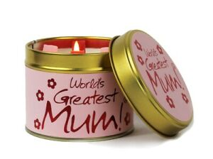 World's Greatest Mum Lily Flame Candle - Mother's Day FREE P&P
