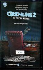 VHS GREMLINS 2 LA NUOVA STIRPE (Buone Condiz. Ex Noleggio) no dvd 8010001188623