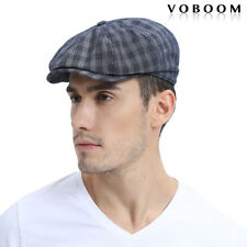 Men's NAVY Gatsby Cap Plaid Beret Ivy Hats Golf Flat Cabbie Newsboy S/M Caps