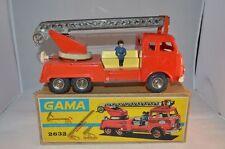 Gama 2632 Fire truck Feuerwehr blech mit OVP rare selten difficult to find