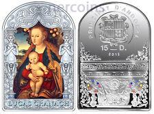 Andorra 2012 Renaissance Madonna by Lucas Cranach 15D Pure Silver 50g Coin