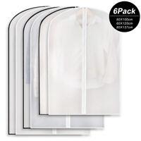 6PCS Waterproof Housse de Protection Sac de Rangement Transparent pour Vêtements