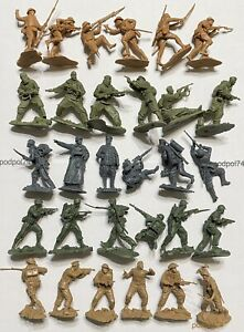 PLASTIC PLATOON soldiers of 5 countries Japan Soviet Germany USA UK during WW2
