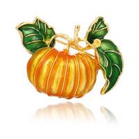 Delicate Enamel Pumpkin Shape Metal Brooch Pin Badge Women Fashion Jewelry Gift
