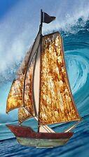 Segel Schiff  Metall Relief Maritime Nautische Wand Dekoration Modellschiff