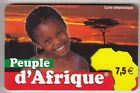 FRANCE TELECARTE / PHONECARD PREPAYEE .. 7€50 PEUPLE AFRIQUE ENFANT 12/07 +N°
