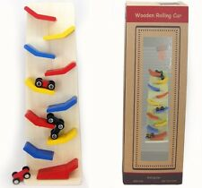 Wooden Children's Rolling Car Ramps Board / Stand - Zig Zag Race Down