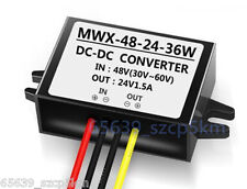 Waterproof Buck Converter Step Down Module Power Supply 36/48V to 24V 1.5A 36W