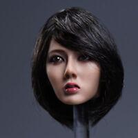 YMTOYS 1/6 Asia Girl Custom Short Hair Head Sculpt F 12'' Female Figure Ph Body