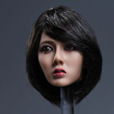 YMTOYS 1/6 Asia Girl Custom Short Hair Head Sculpt F 12'' Female Figure Ph Body