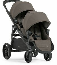 Baby Jogger 2017 City Select LUX Double Stroller in Taupe New Open Box!!