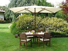 Maffei ombrellone palo in legno Timbers Art.152R ecru poliestere 300x200cm