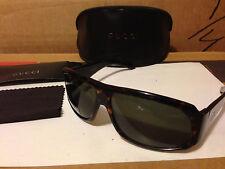 NEW Gucci 1556/S / GG1556S 0086/K0 Sunglasses, Dark Havana / Dark Green Lens