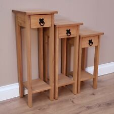 Corona Set of 3 Plant Stands Hallway Tables Mexican Pine by Mercers Furniture®