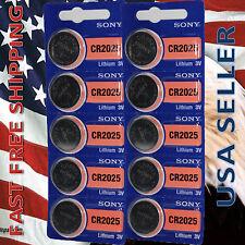 **FRESHLY NEW**10x SONY CR2025 Lithium Battery 3V Exp 2023+ Pack 10 pcs Coin Cel