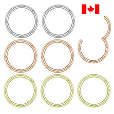 Pair Nose Hoop Ring Septum Clip Stainless Steel earring body jewelry punk gift