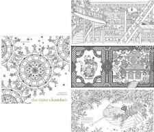 Adult Coloring Book THE TIME CHAMBER Daria Song Color Drawing Draw