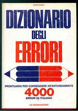 MAGNI MAURO DIZIONARIO DEGLI ERRORI DE VECCHI 1971 LINGUISTICA ITALIANA