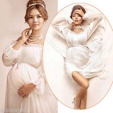 Hot Sale Women Maternity White Cotton Photography Props Studio Dress