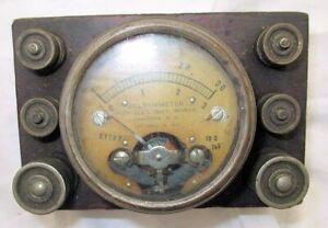 Scarce Antique Volt Ammeter By Hoyt Electrical
