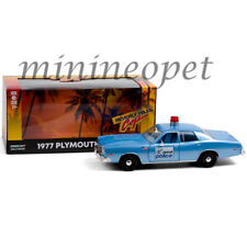 Greenlight 84122 Beverly Hills Cop 1977 Plymouth Fury 1/24 Detroit Police Car Bl