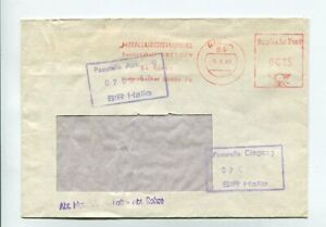 DDR Brief Absenderfreistempel Riesa 5.9.88 Mettalurgiehandel