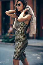 Anthropologie BHLDN by Mestiza NY Jenna Dress gold sequin Sz 4 gold New Year