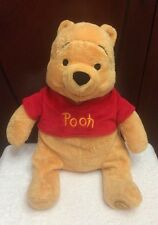 "LARGE Stuff Plush Disney Animal POOH from Winnie the Pooh & Friends 13"" DISNEY"